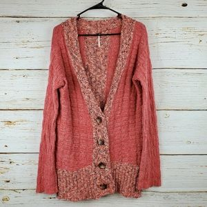 Anthropologie Free People Terracotta Cardigan